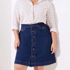 Loft Plus Denim skirt size 16